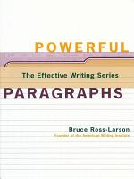 Powerful Paragraphs (The Effective Writing Series)