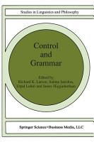 Control and Grammar PDF