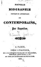 Nouvelle biographie critique et anecdotique des contemporains