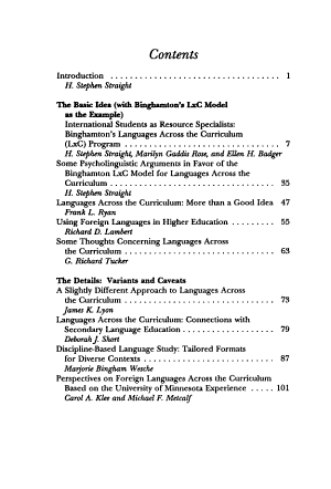 Translation Perspectives  Languages across the curriculum   invited essays on the use of foreign languages throughout the postsecondary curriculum PDF