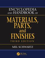 Encyclopedia and Handbook of Materials  Parts and Finishes PDF