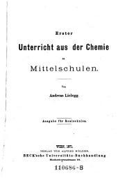 Erster Unterricht aus der Chemie ... Ausg. f. Realschulen