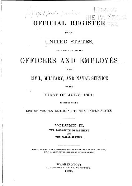 Download Official Register of the United States     Book