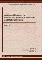 Advanced Research on Information Science  Automation and Material System PDF