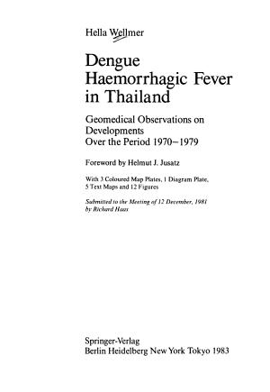 Dengue Haemorrhagic Fever in Thailand PDF