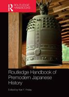 Routledge Handbook of Premodern Japanese History PDF