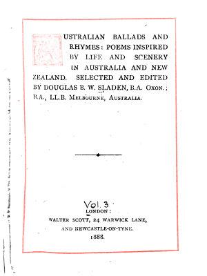 Australian Ballads and Rhymes PDF