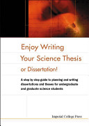 Enjoy Writing Your Science Thesis!