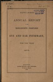 Annual Report of the Massachusetts Charitable Eye and Ear Infirmary