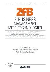 E-Business Management mit E-Technologien: Management mit E-Technologien