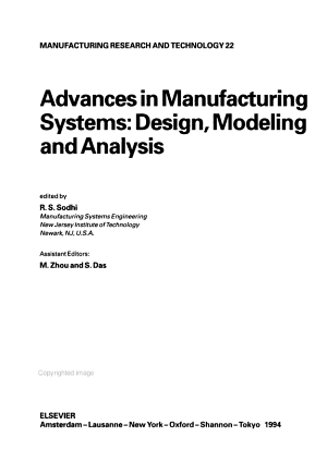 Advances in Manufacturing Systems PDF