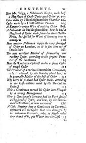 The Compleat Cyderman: Or, the Present Practice of Raising Plantations of the Best Cyder Apple and Perry Pear-trees ... By Experienc'd Hands, Living in the Cyder Countries, Etc. [By William Ellis.]