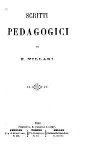 Scritti pedagogici: Volume 1