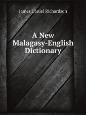A New Malagasy-English Dictionary
