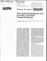 Pilot-scale Development of a Low-NOx Coal-fired Tangential System