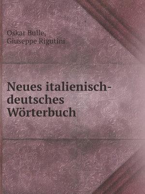 Neues italienisch deutsches W rterbuch PDF