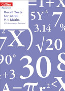 Recall Tests for GCSE 9-1 Maths