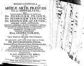 Dissertatiuncula de medicae artis praestantia ac difficultate