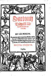 Suetonij Tra[n]quilli Liber illustrium virorum