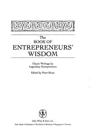 The Book of Entrepreneurs' Wisdom