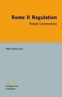 Rome II Regulation PDF