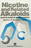 Nicotine and Related Alkaloids PDF