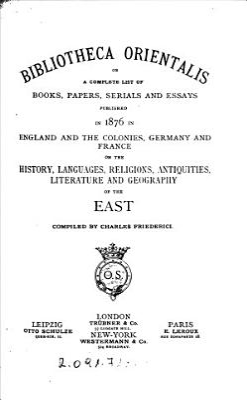 Bibliotheca orientalis PDF