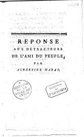 Réponse aux détracteurs de l'Ami du peuple par Albertine Marat