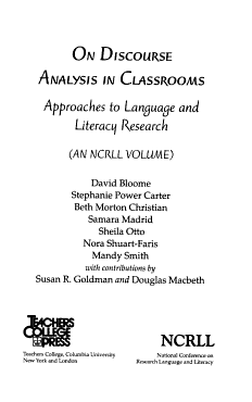 On Discourse Analysis in Classrooms PDF