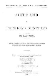 Special consular reports: Volume 22