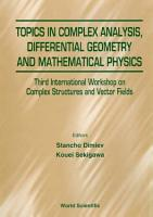 Topics In Complex Analysis  Differential Geometry And Methematical Physics   Proceedings Of The Third International Workshop On Complex Structures And Vector Fields PDF