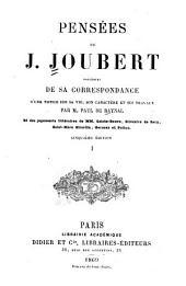 Pensées de J. Joubert: Volume1