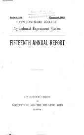 Fifteenth annual report