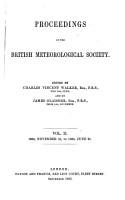 Proceedings of the British Meteorological Society PDF