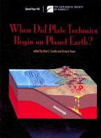 When Did Plate Tectonics Begin on Planet Earth  PDF