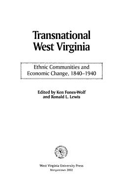 Transnational West Virginia PDF