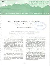 Elk and deer use are related to food sources in Arizona ponderosa pine