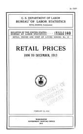 Retail prices and cost of living series: Issues 13-15