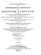 Supplement to the Etymological Dictionary of the Scottish Language ...