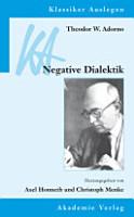 Theodor W  Adorno  Negative Dialektik PDF
