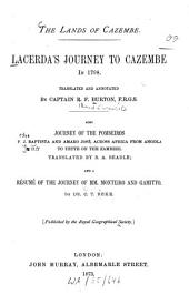 The Lands of Cazembe: Lacerda's Journey to Cazembe in 1798