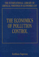 The Economics of Pollution Control