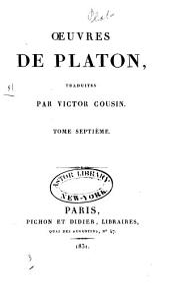 Oeuvres de Platon: Volume7