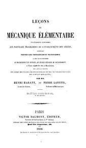 Leçons de mécanique élémentaire ..
