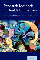 Research Methods in the Health Humanities PDF