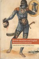 British Identities and English Renaissance Literature PDF
