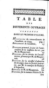 Choix des mémoires et abrégé de l'histoire de l'Académie de Berlin: Volume 1