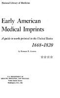 Early American Medical Imprints PDF