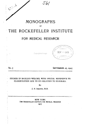 Monographs of the Rockefeller Institute for Medical Research: Issue 5