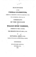 Discourse at the funeral solemnities     commemorative of the decease of W  H  Harrison  President of the U  States  etc PDF